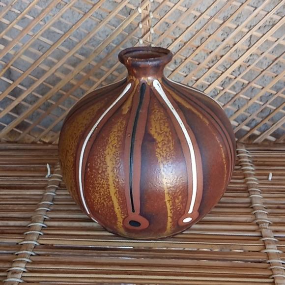 Vintage boho pottery vase